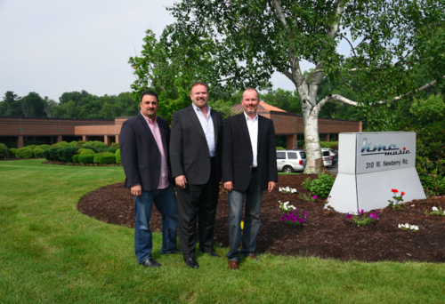 FROM LEFT TO RIGHT: JAMES TSAPTSINOS, VICE PRESIDENT OF SALES; MARK TERRY, PRESIDENT; AND ROGER HART, VICE PRESIDENT OF MERCHANDISING