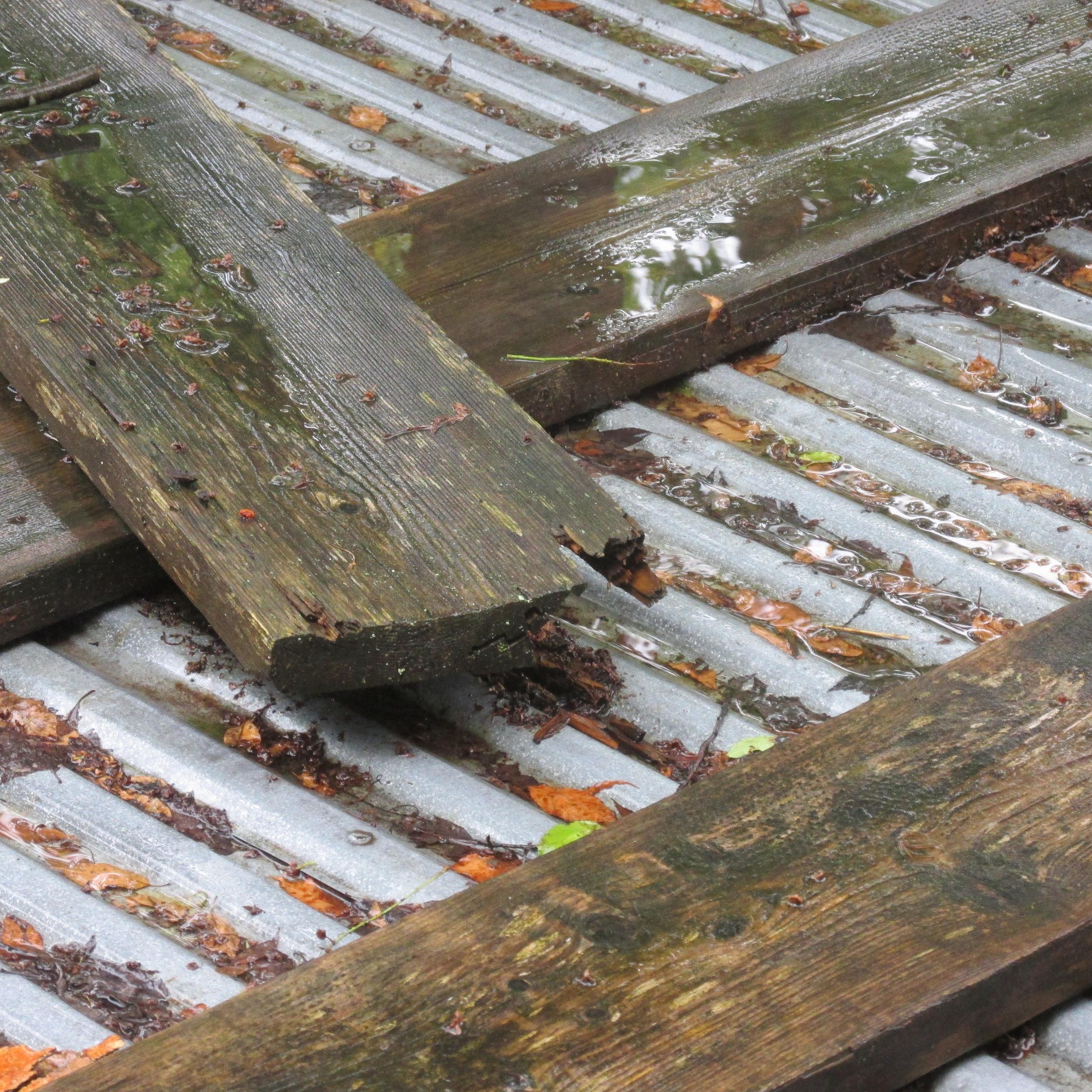 covered pile of cedar siding