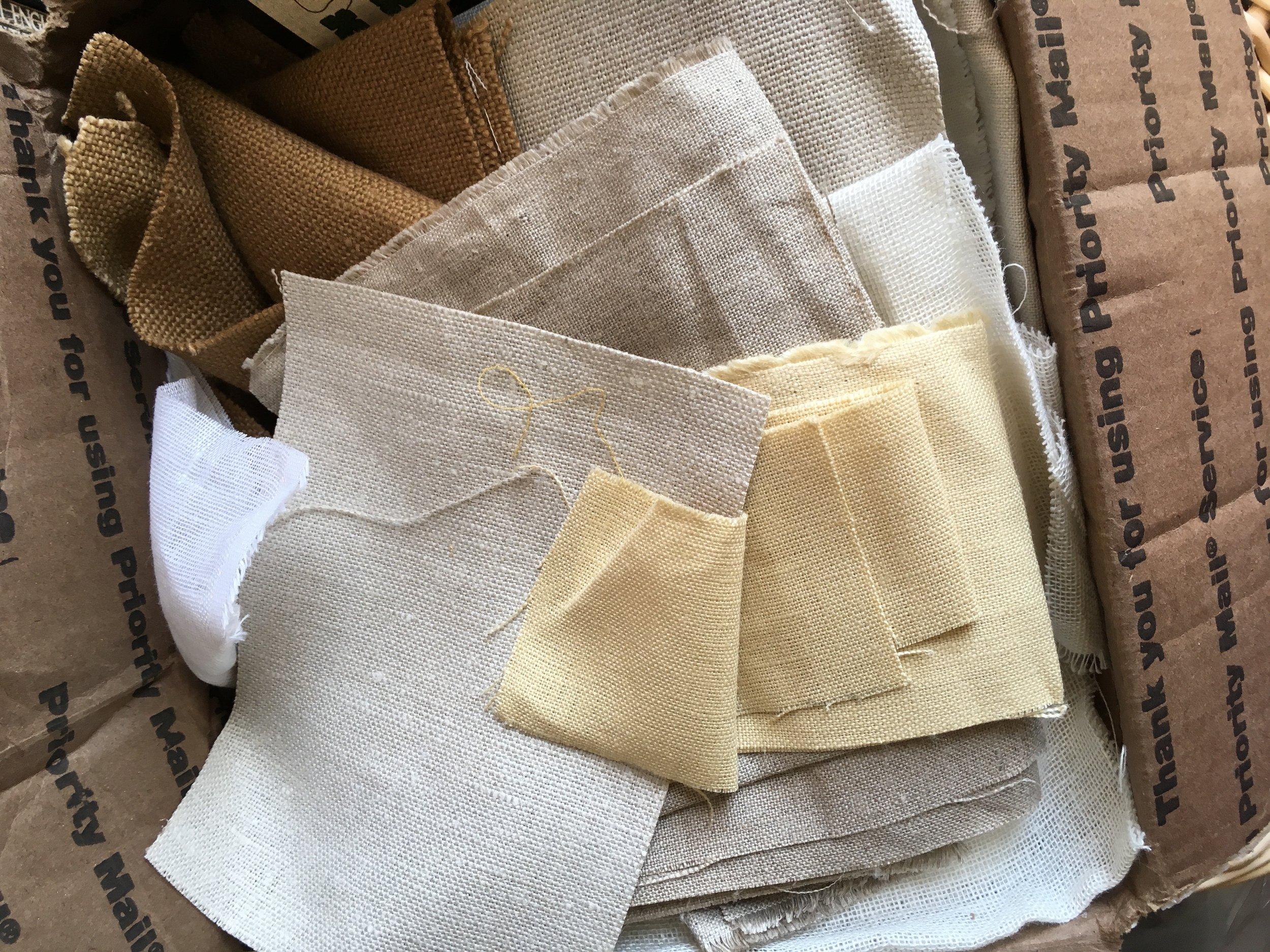 linen off cuts