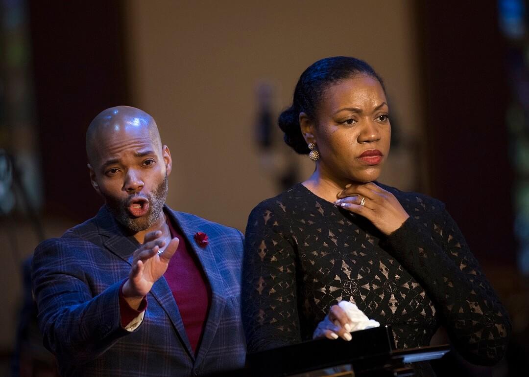Soloists tenor Albert Lee and soprano Kimwana Doner