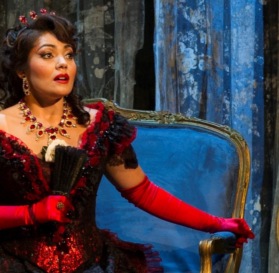 Celebrated Soprano Ailyn Pérez was Violetta in Cincinnati Opera's 2012 production of  La Traviata . Photo by Philip Groshong.