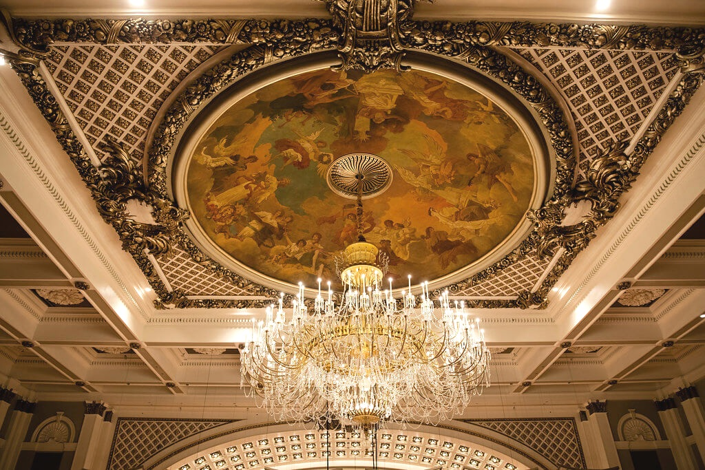 Shine on - Music Hall's iconic chandelier now features brilliant LED bulbs. Its suspension mechanism has been upgraded to allow for easy lowering and raising. Also, each and every one of the hundreds of crystals was individually hand polished.