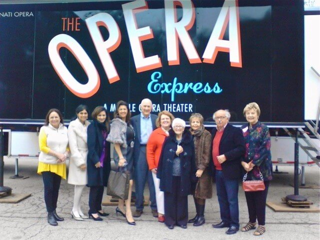 Opera Guild members enjoy a performance on The Opera Express.