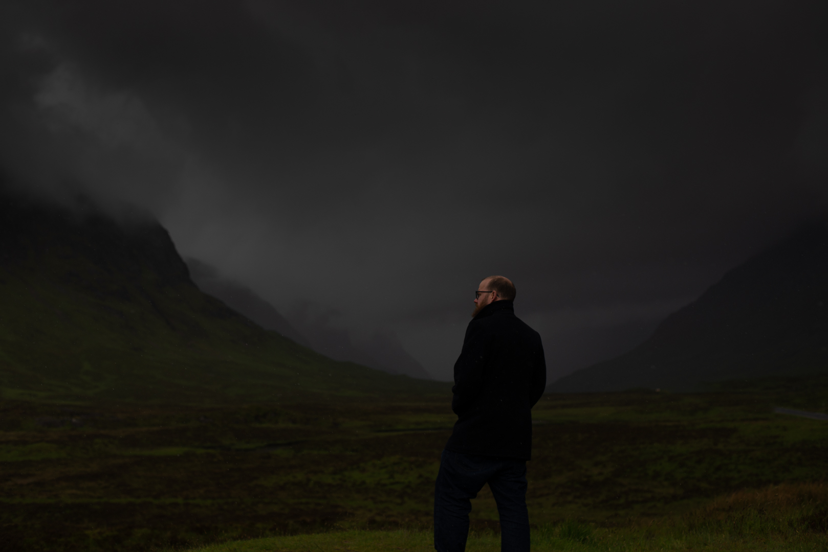 Chris Wallace Fine Art Scottish Elopment Photographer Glen Coe Dark  Moody