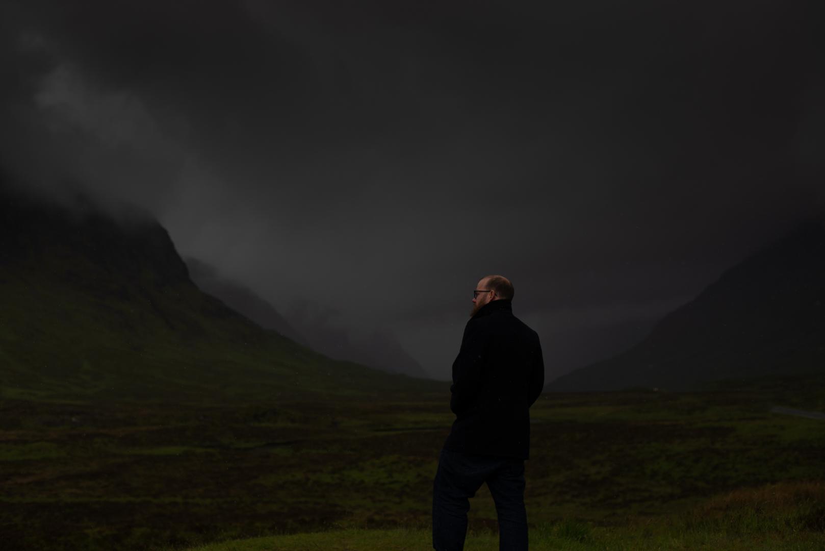 Chris Wallace Fine Art Scottish Elopment Photographer Glen Coe Dark  Moody