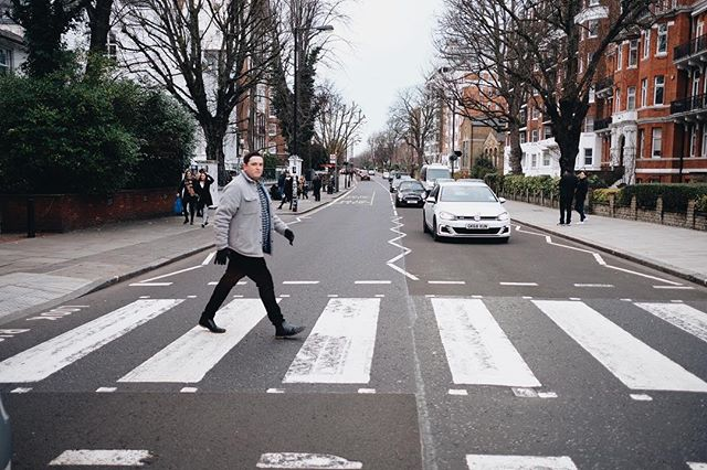 """Super proud of this guy for winning Sales Rep of the Year AND Best Team Player of the Quarter on his sales team at @dell! In his FIRST YEAR!! Such a proud wifey - I can't even with his talent, drive and ambition! ❤️ - Couldn't think of a more fitting photo to share along with this news than Joel's take on """"Abbey Road!"""" - #thewalkerstakeeurope"""