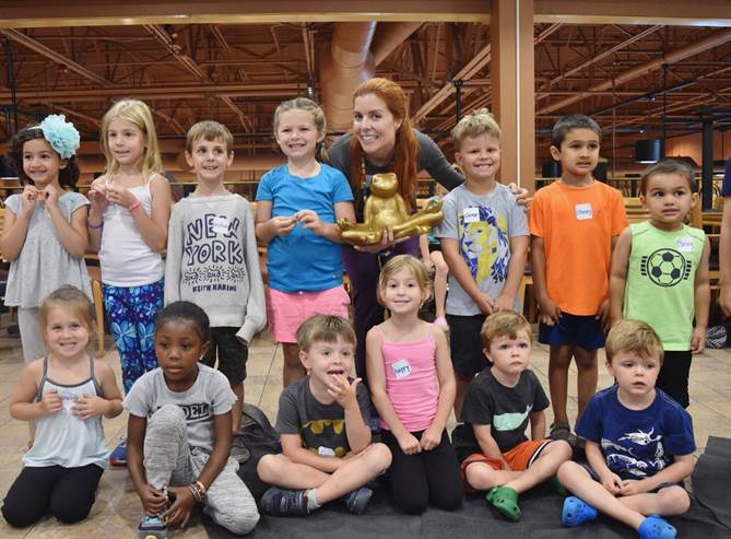 yoga for kids at Wegmans, amherst, ny