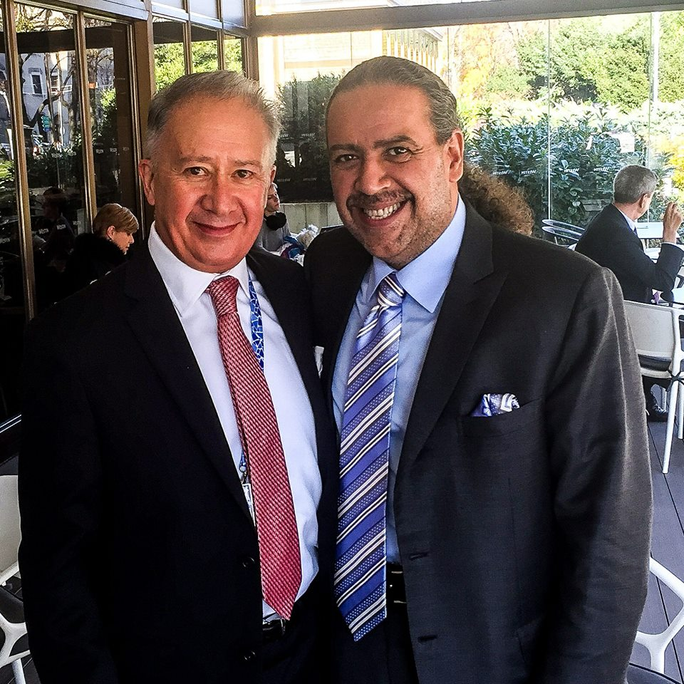 USASC President Alfredo La Mont with ANOC President H.H. Sheikh Ahmad Al Fahad Al Sabah