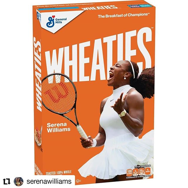 #Repost @serenawilliams • • • • • • In 2001, Wheaties paid homage to a true champion and an icon by putting her on the cover of a Wheaties Box. Althea Gibson was the FIRST Black Woman tennis player to be on the box. Today, I am honored to be the second.
