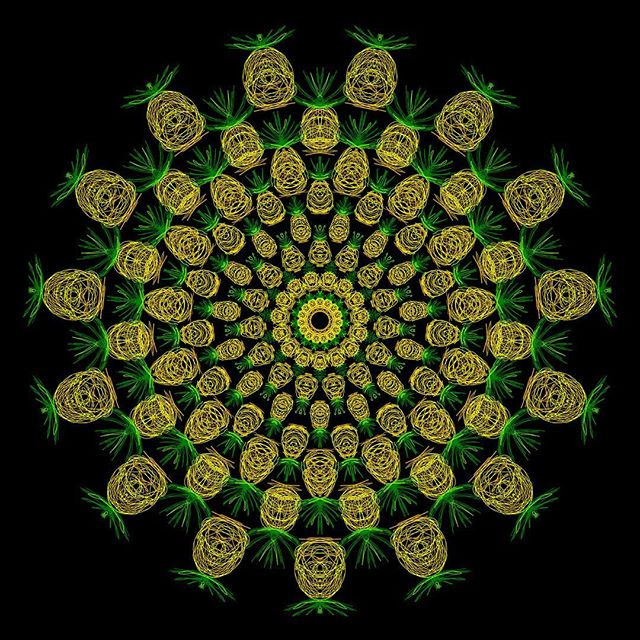 Pineapple Mandala #arttherapy #hanalokahi #hanalokahitherapy