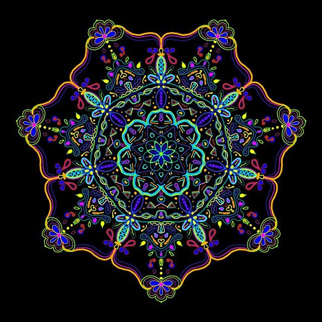 Floral Mandala #arttherapy #hanalokahi #hanalokahitherapy