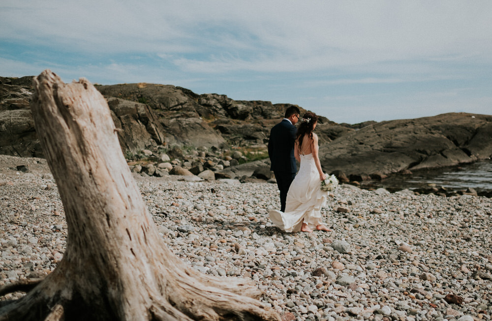 Mølen beach bridal portraits