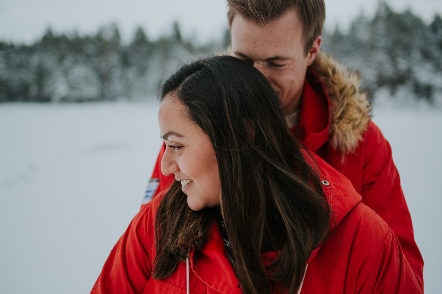 Winter love shoot in Skien