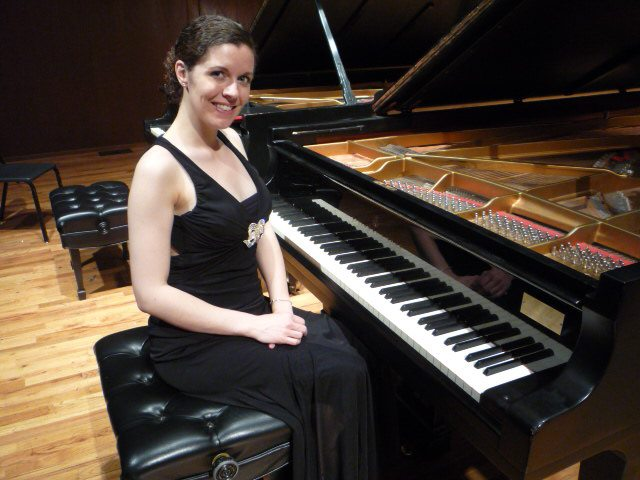 Liz Kohl in her Master's Degree Recital at Baylor University, 2012