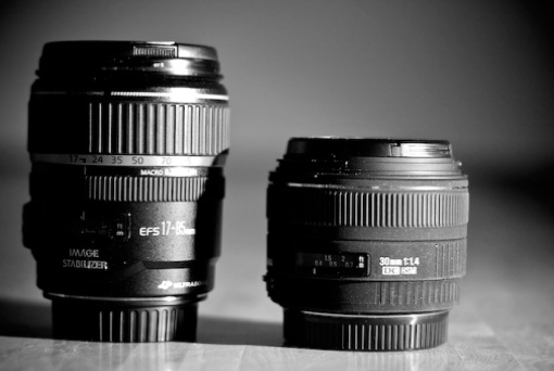 A prime lens is usually has fixed focal length, that means that the focal length can't be changed at all.   A zoom lens is a variable focal length lens meaning you can turn the lens and change the image size.  A common zoom lens would go from 50mm (normal) to 100mm (telephoto)   It's important to note that not all zoom lenses are about magnification. Some range from 28mm wide to 50mm (normal lens)
