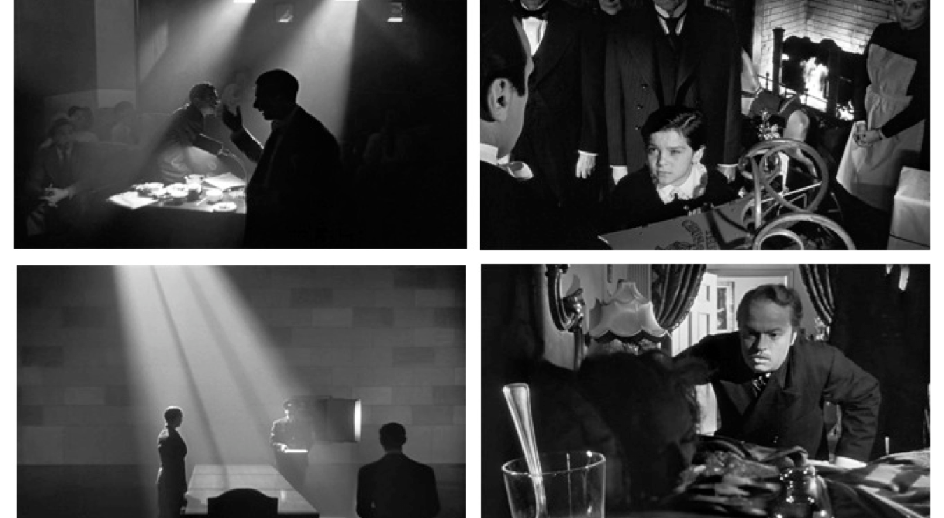 The above stills are all scenes from  Citizen Kane,  a film shot primarily with low-key or high contrast lighting. Ratios for low-key tend to be 8:1 or even higher.