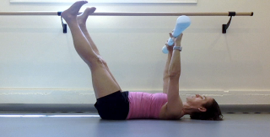 Coordinate control of lumbopelvic stability with hip extension and axial elongation.