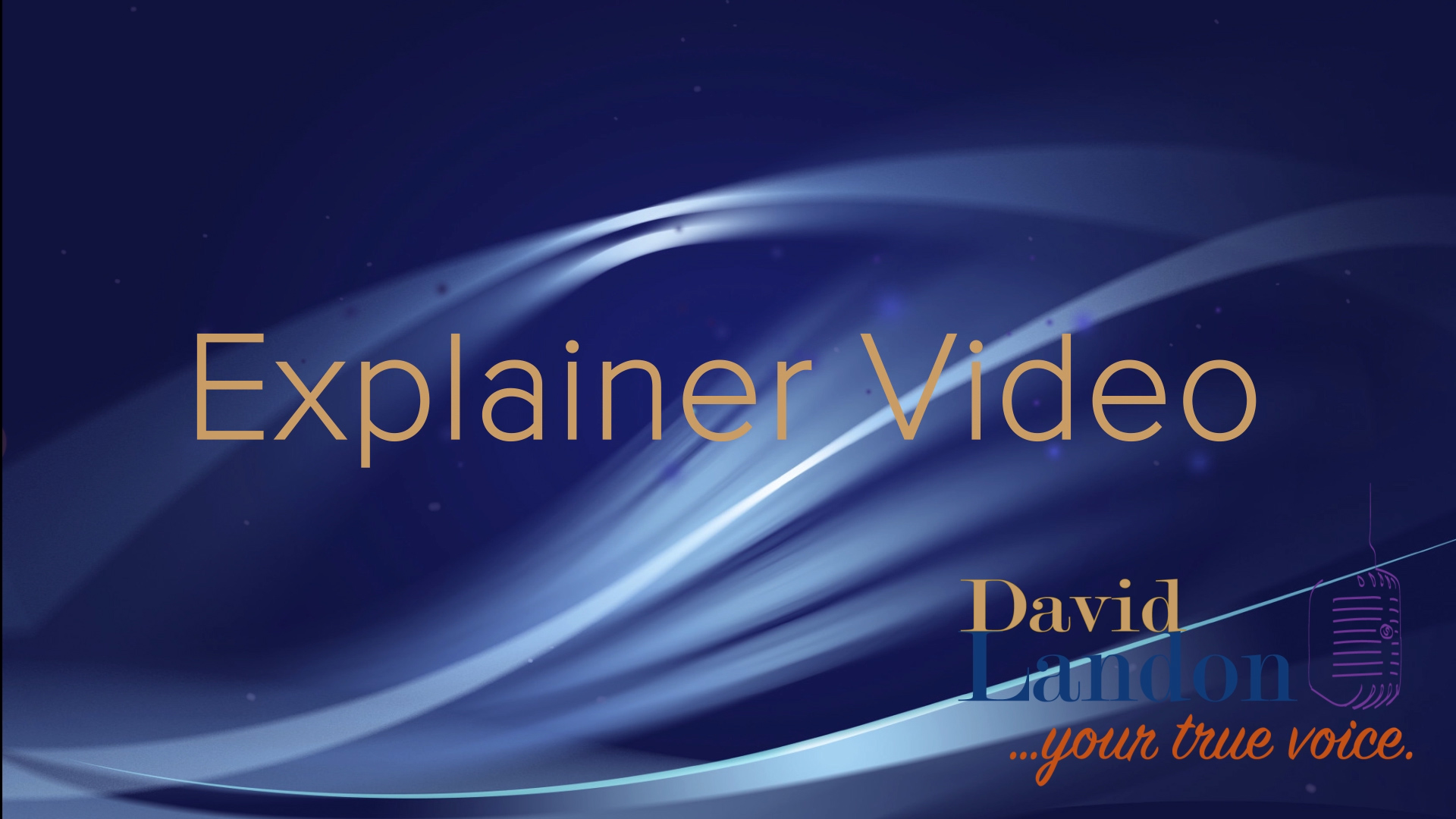 "David Landon ""Explainer Video"" Visual Demo"