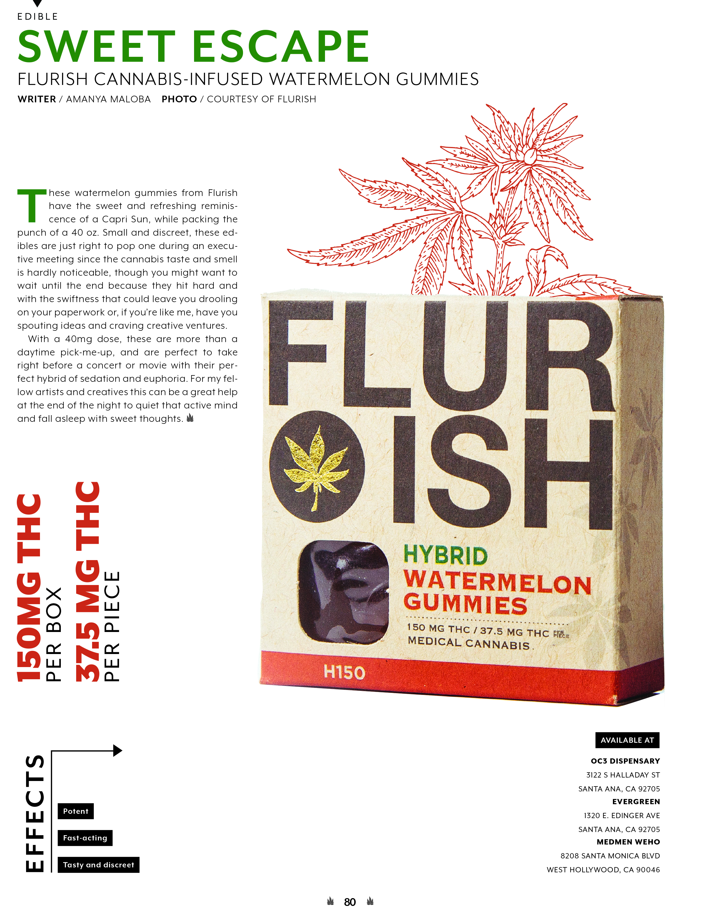 Dope Magazine Edible Of the Month || Flurish Group