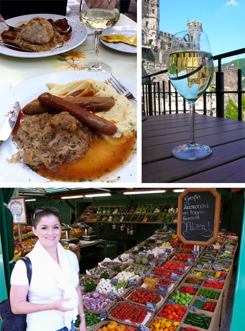 Food in Bavaria, wine at a castle and shopping in Munchen.