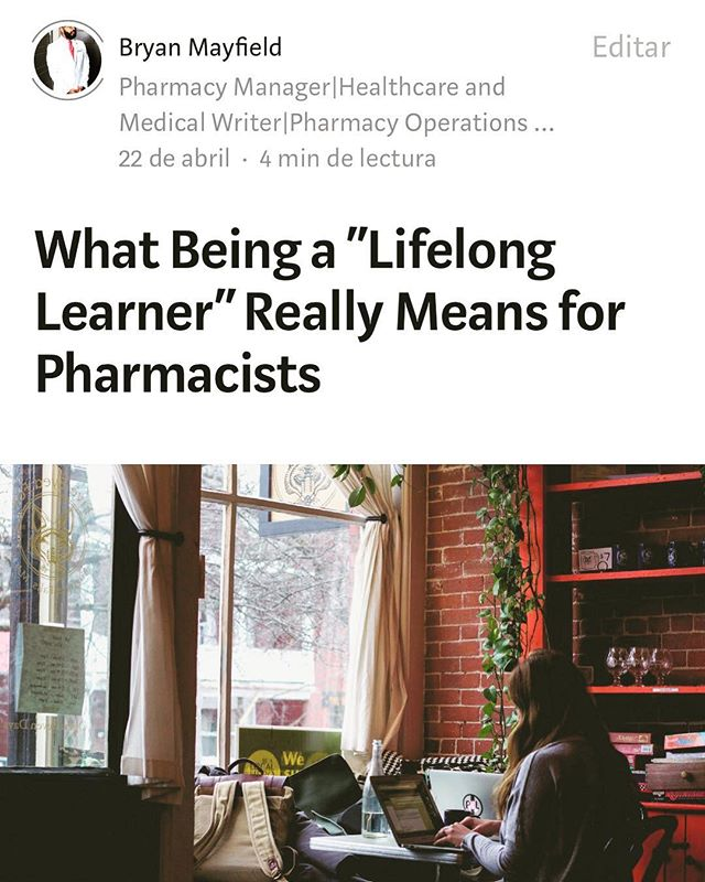 In case you missed my article on Medium...go check it out!  #pharmacist #lifelonglearning #pharmd #medicine #medium #healthcare