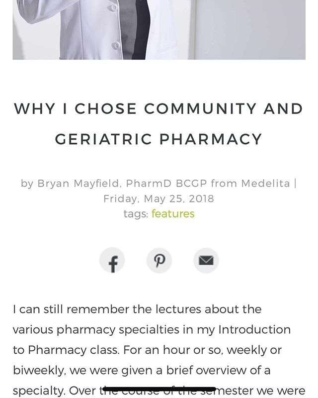 Please check out my new article on the @medelita_gram blog!  #pharmacist #medelita #geriatrics #pharmacy #communitypharmacy #healthcare #writer
