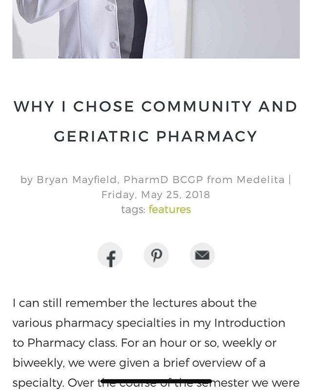 Please check out my new article on the @medelita_gram blog!  #pharmacist #medelita #geriatrics #pharmacy #communitypharmacy #healthcare #writer