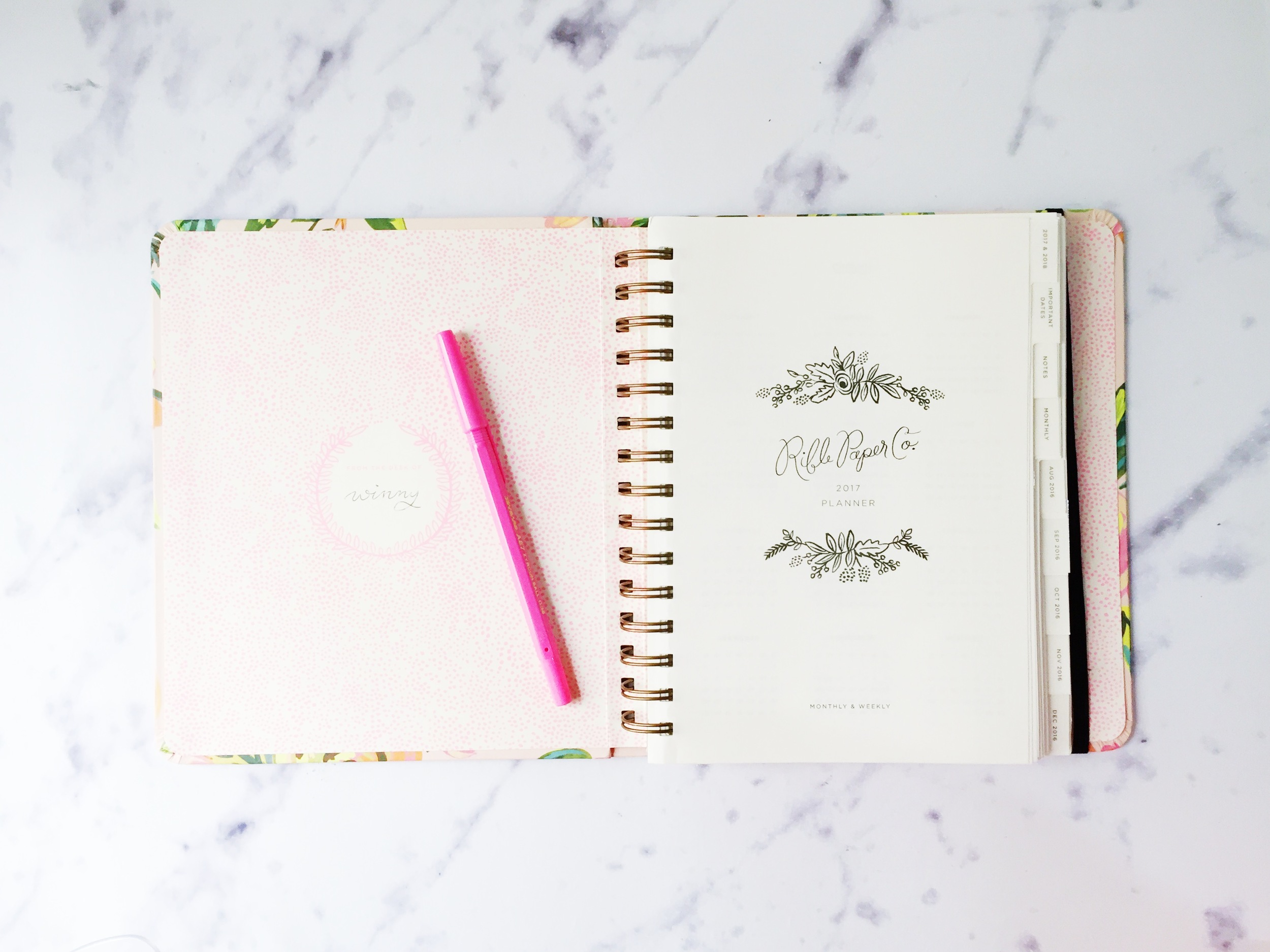 Rifle Paper 2017 Planner