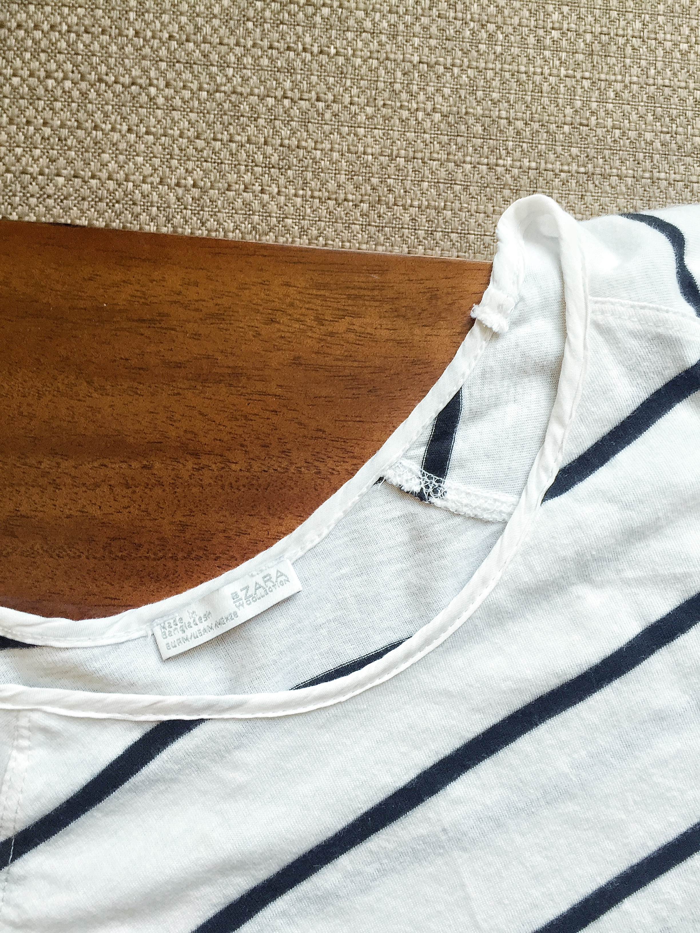 I bought this shirt at Zara before I knew about fast fashion. And it's made in Bangladesh! Oh no...