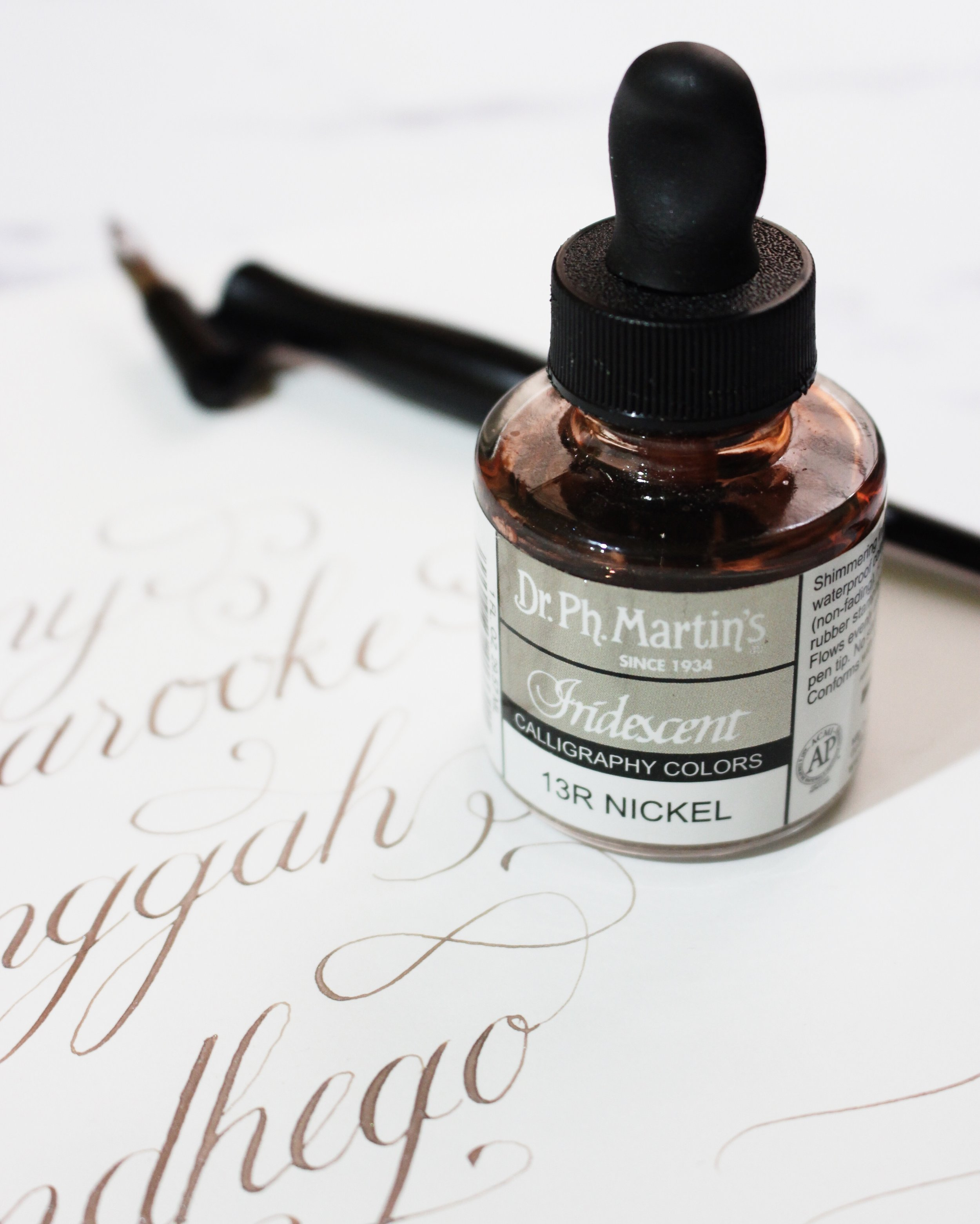 dr ph martin iridescent calligraphy colors