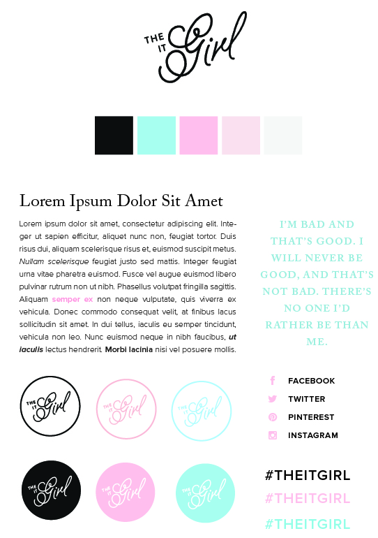 One of my alternative work for The It Girl. I don't know why Squarespace changed my color. It shouldn't be like this.