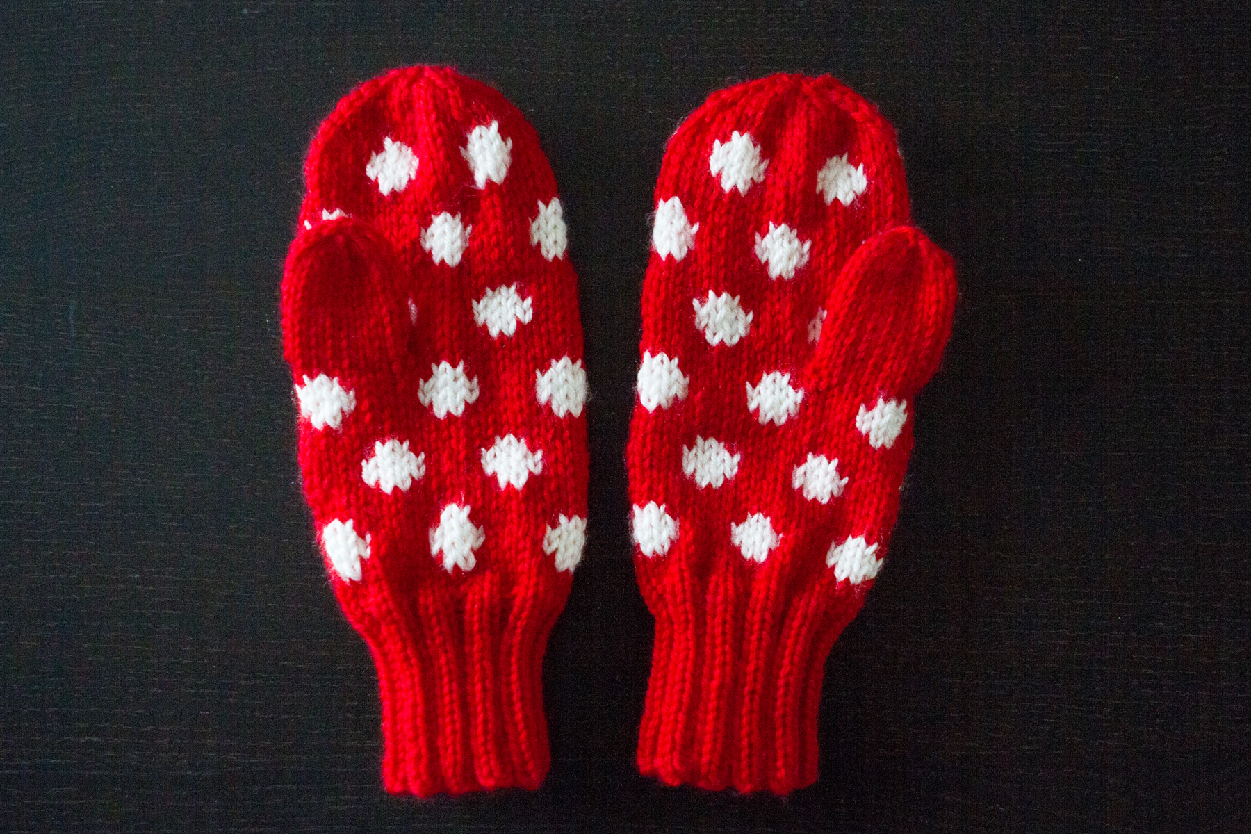 I love using stranded colour work with mittens, the layer of the yarn makes it so warm