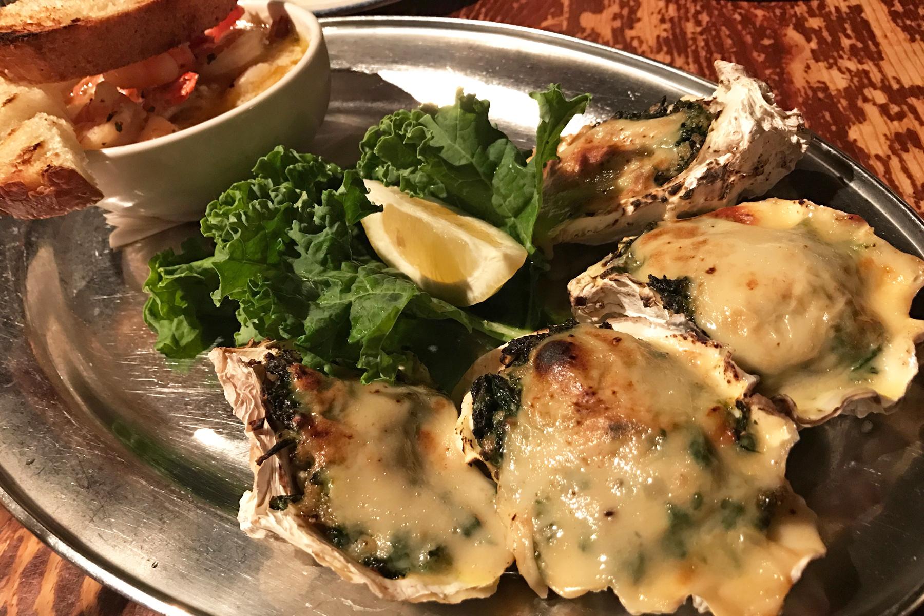 Oysters Rockerfellah &Garlic Shrimp
