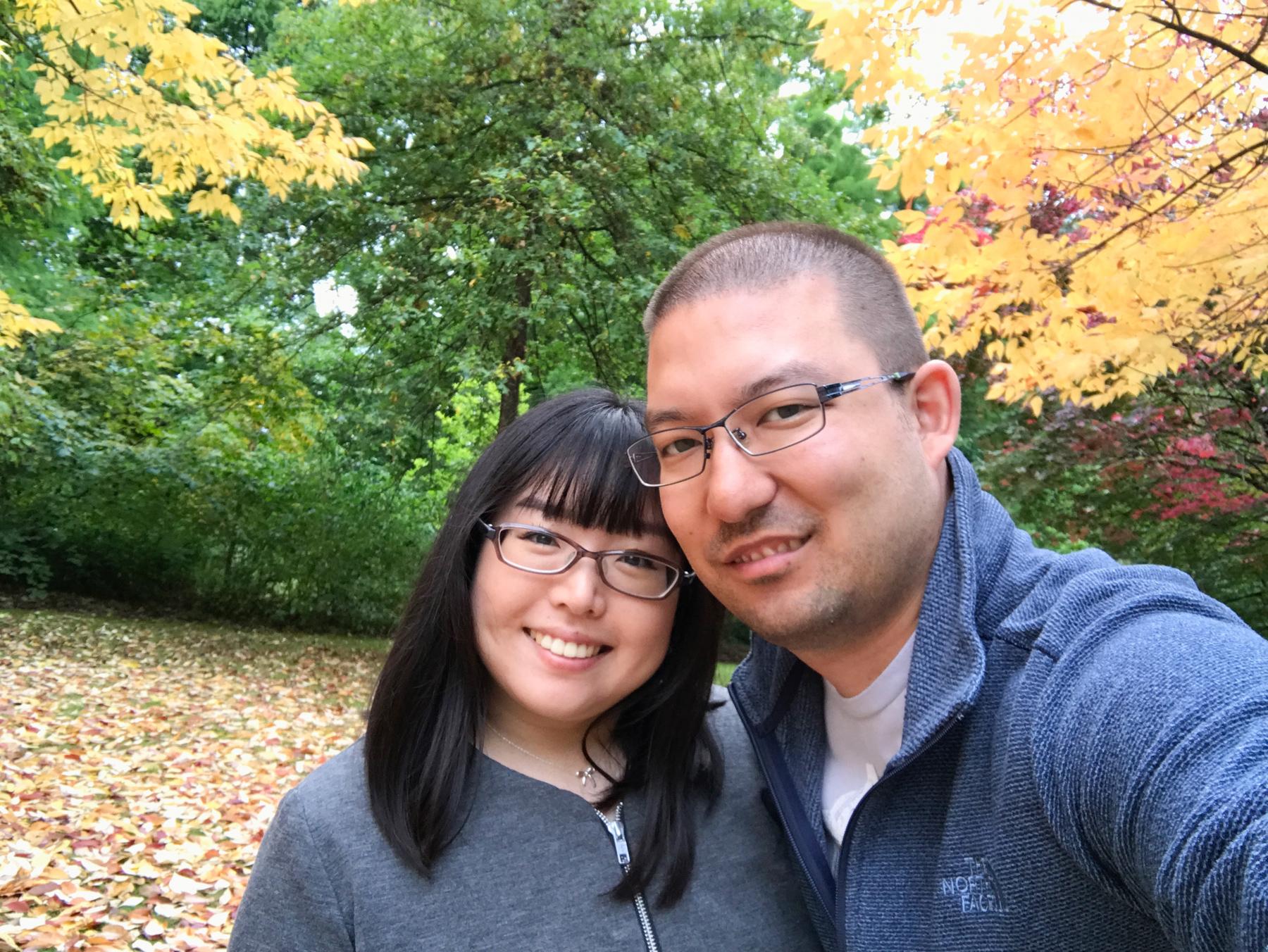 Us at VanDusen Botanical Garden