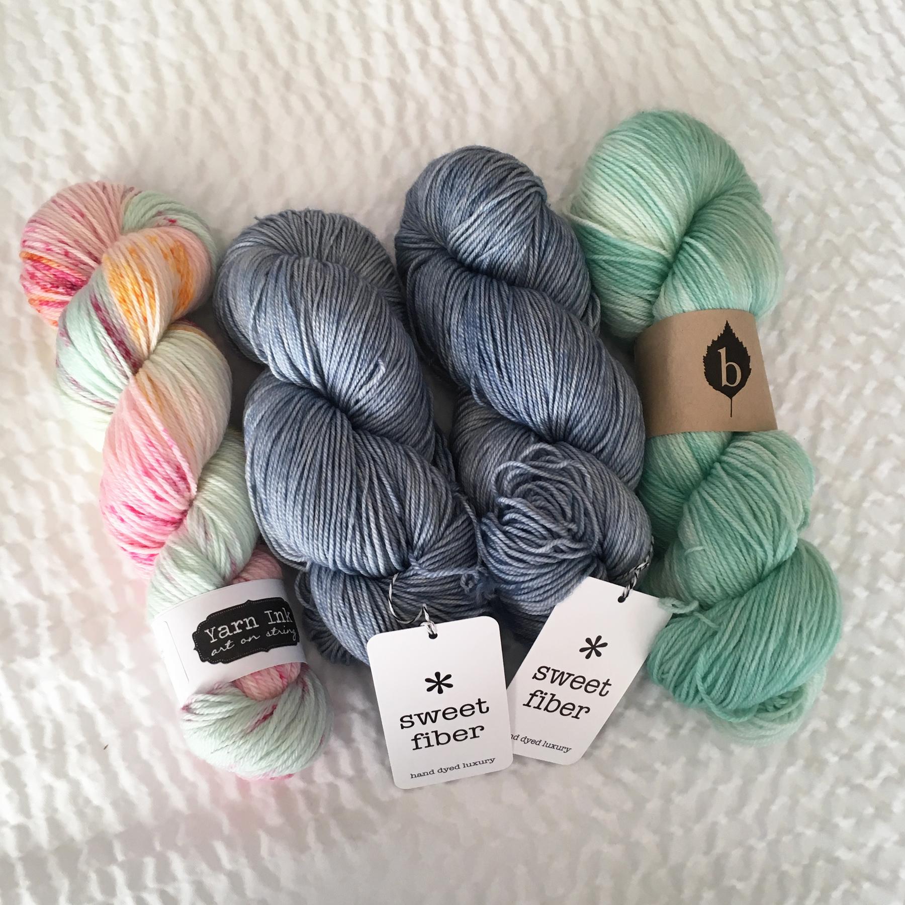 Yarns I bought at Knit City!