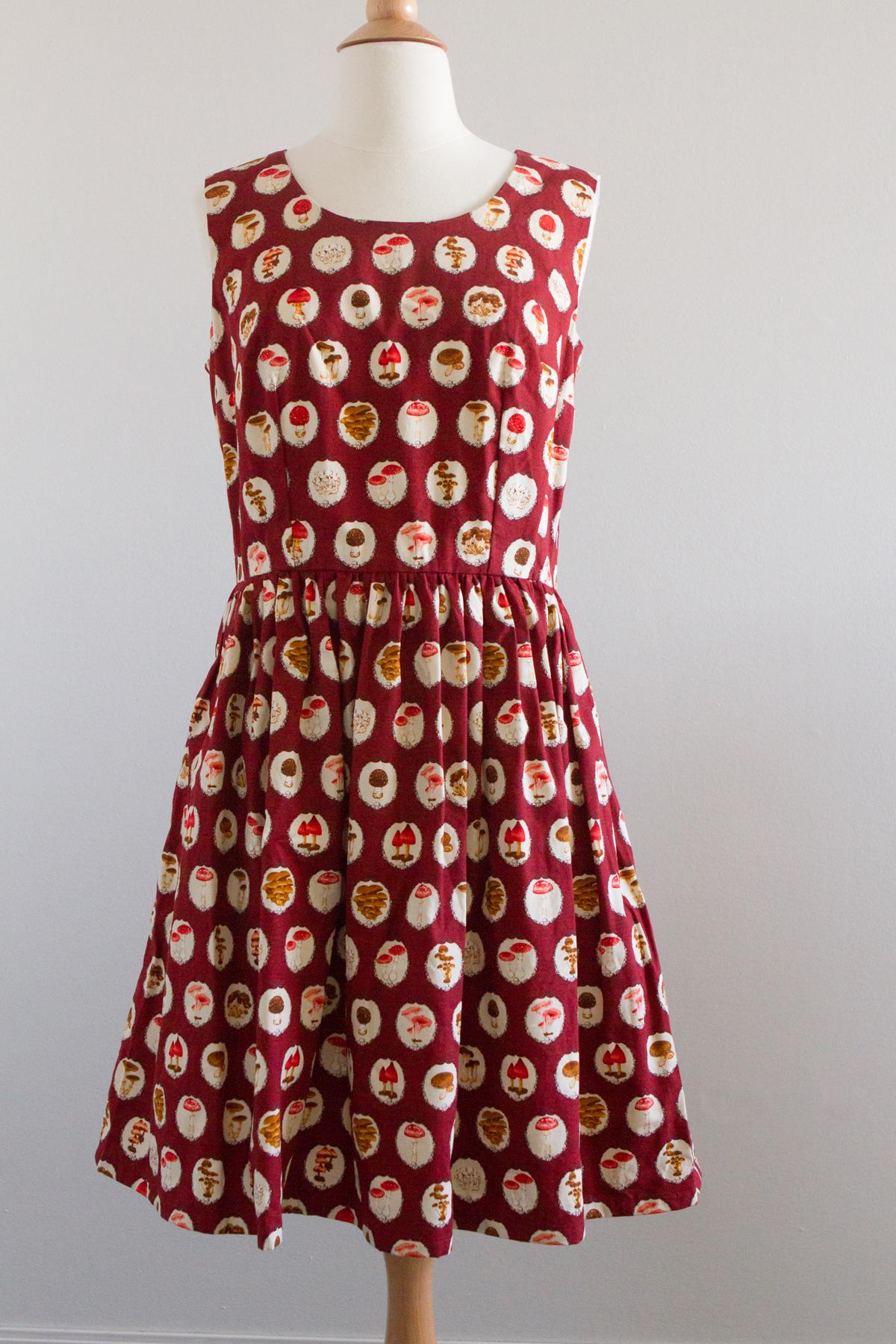 Red mushroom dress