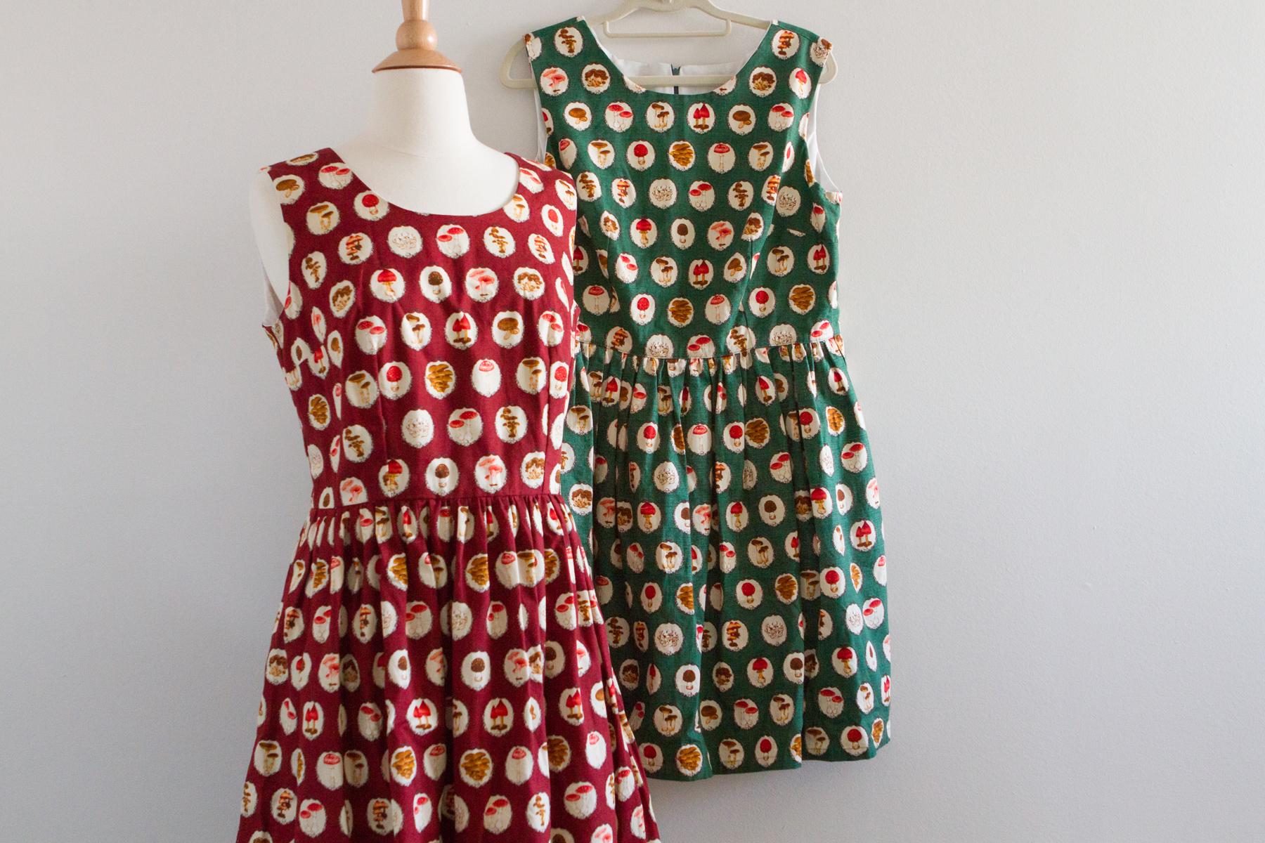 Mushroom dress sisters