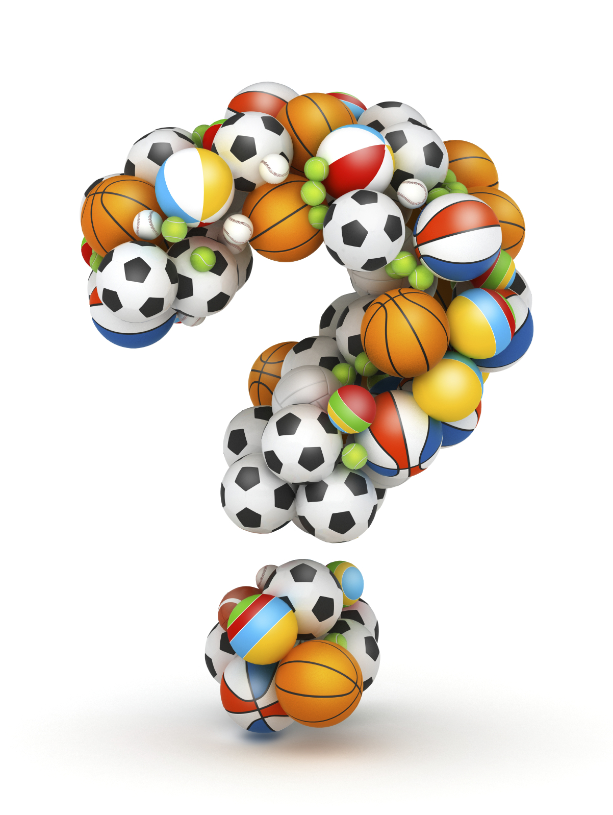 Question mark , gaming balls alphabet
