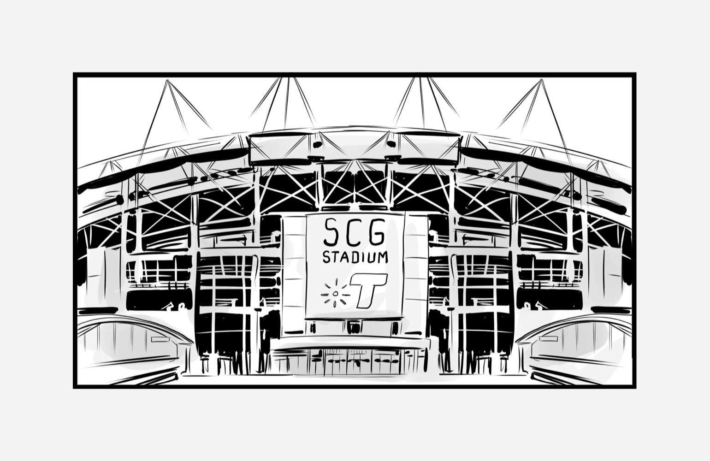 A stadium beacon experience