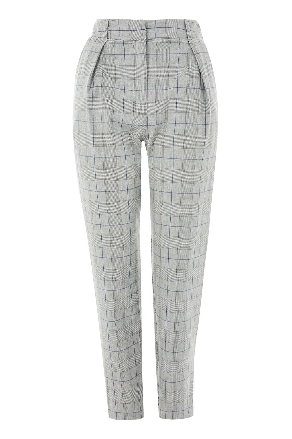 Checked Peg Leg Trousers