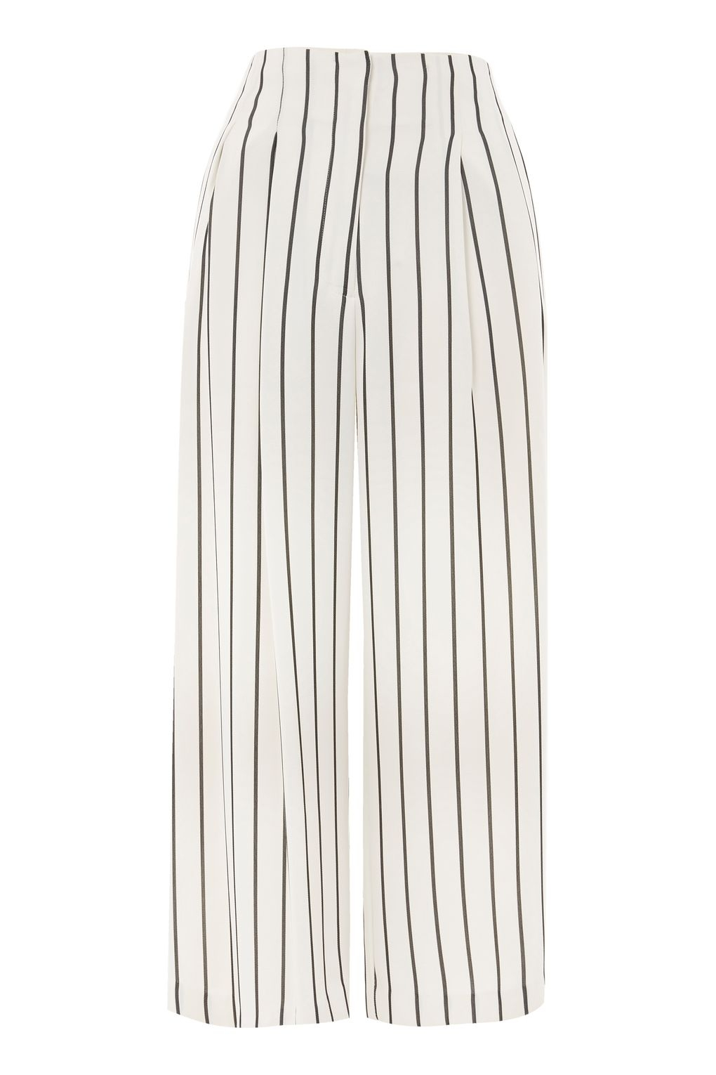 Stripe Crop Wide Trousers