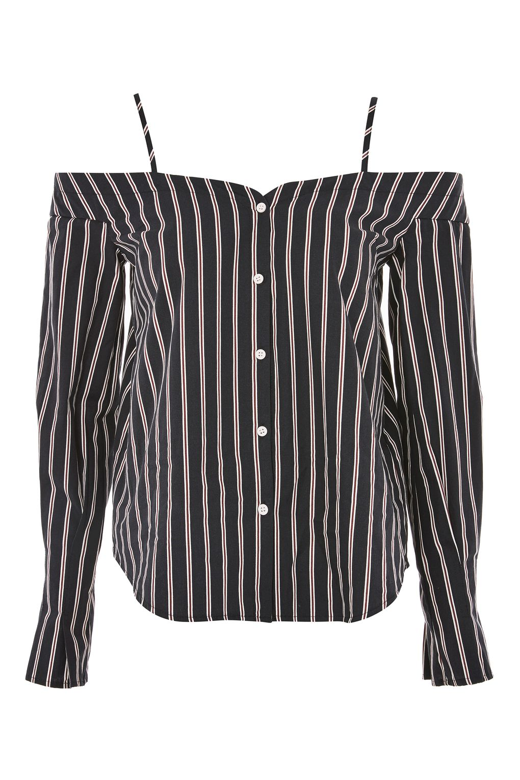 Strappy Stripe Bardot Top