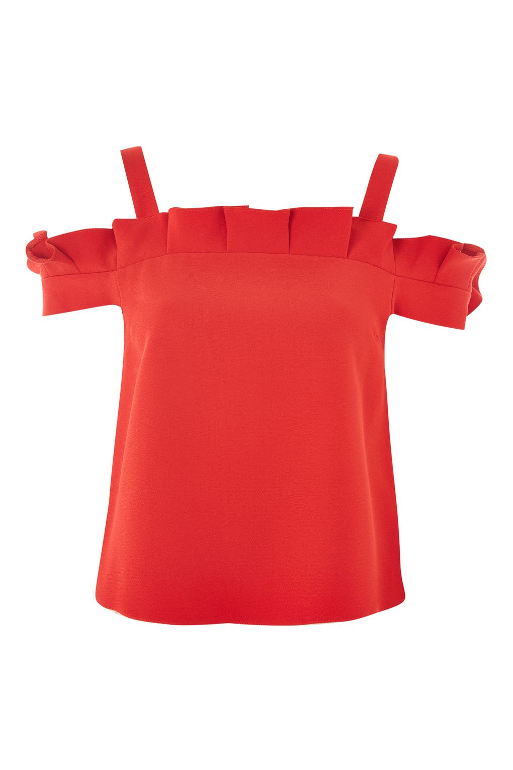 Box Pleat Bardot Top