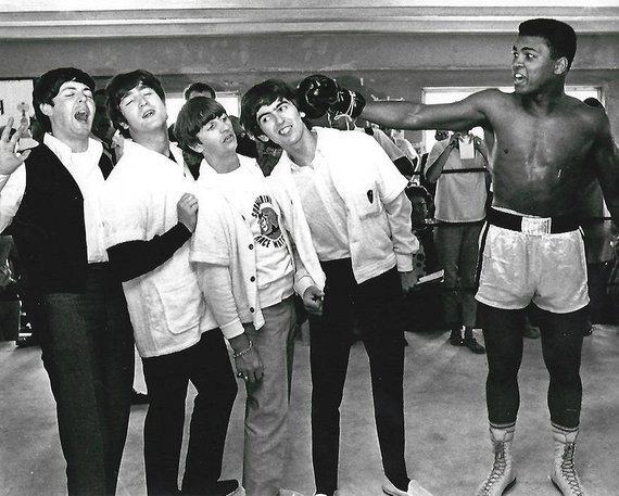 Black & White Print - I saw this print of The Beatles and Ali at a street market and ever since, I have wanted it in my house. I think it would look so cool with a simple frame on a gallery wall.