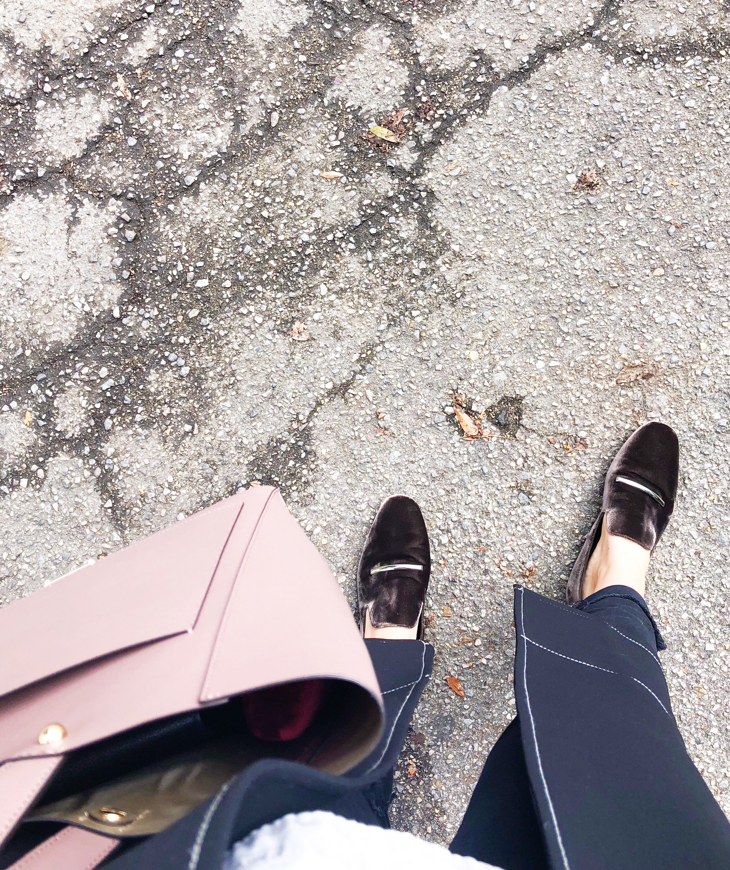 - Brought out the velvet loafers because it's finally feeling like FALL!