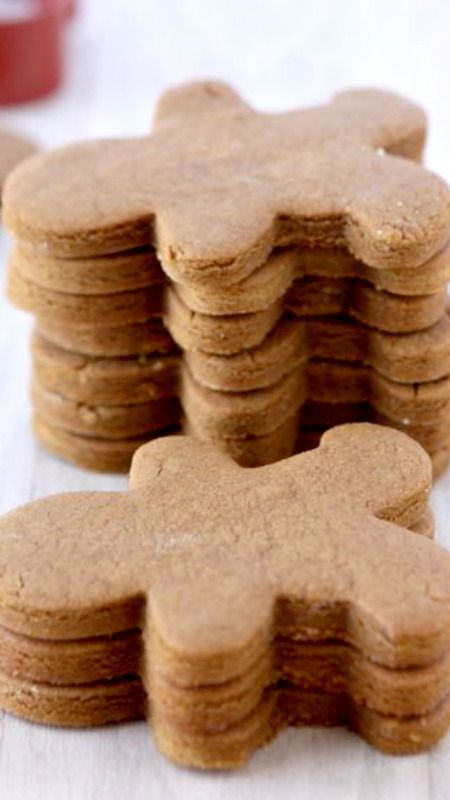 Gingerbread cookies - I LOVE gingerbread. It is so festive and so fun to make into little gingerbread men cookies.