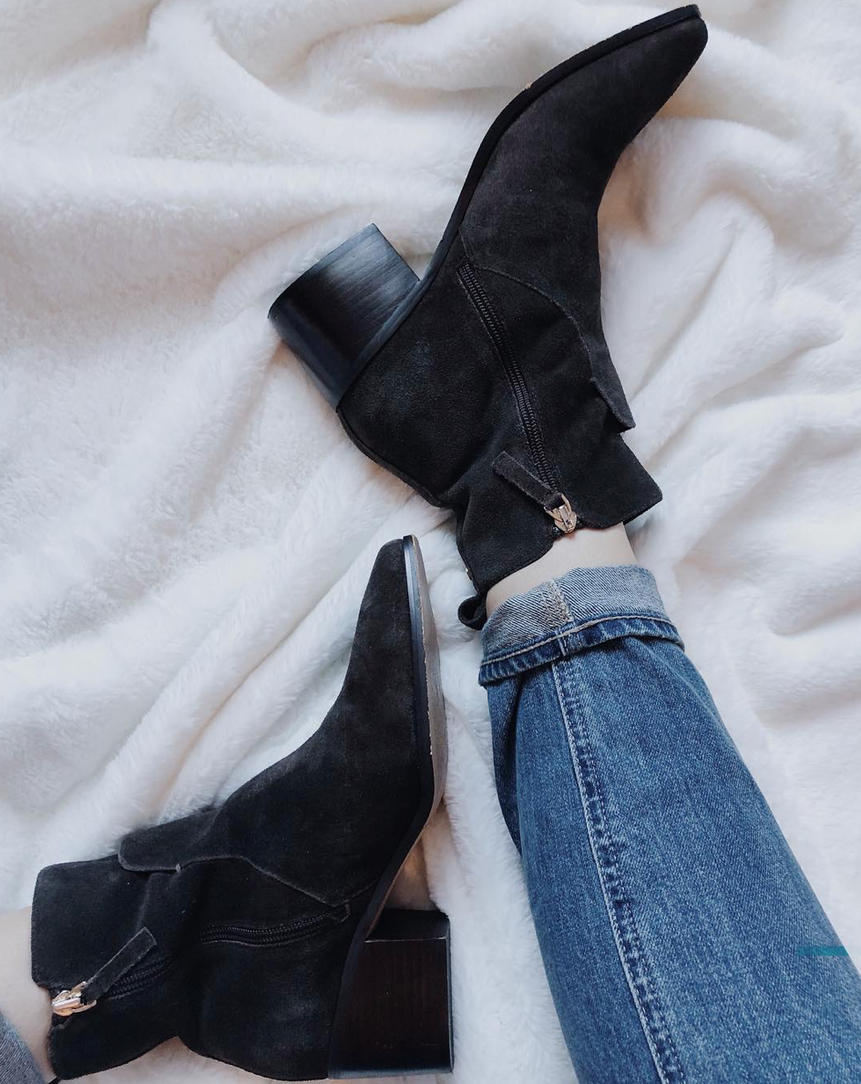 - Brought out my ~favorite~ fall booties. It's finally cold enough to wear them!