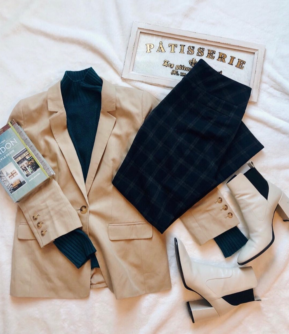 - Put together a little business chic outfit. Who says office wear has to be boring?