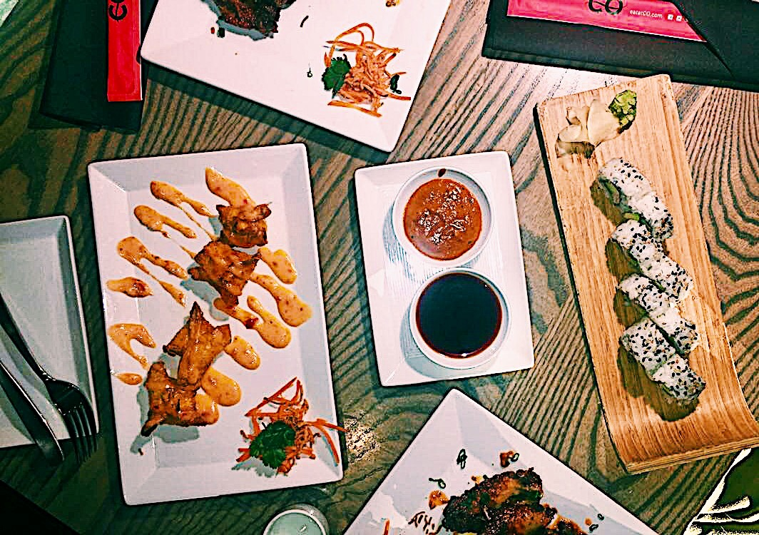 Malaysian Chili Wings     Spicy Crab Rangoon    California Roll