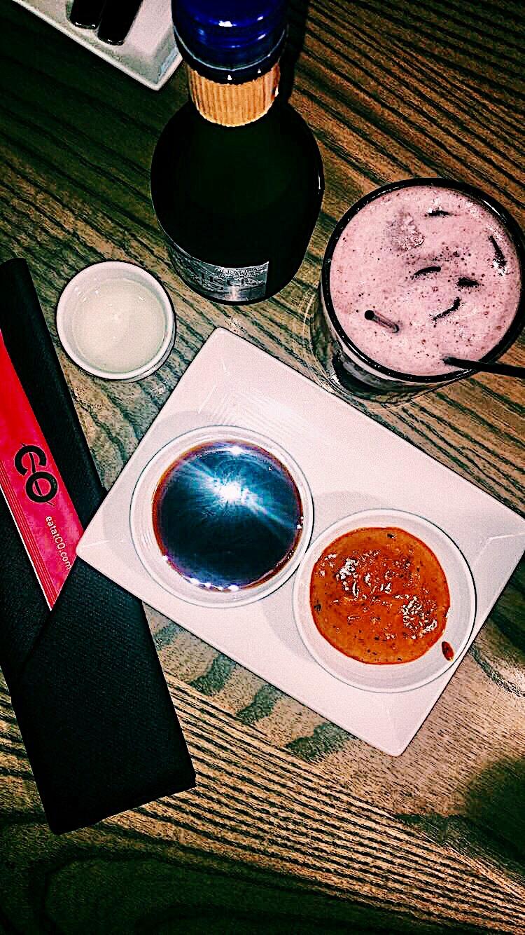 Pomegranate Rum Punch & Sake